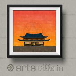 artsville-modern-painting-house-at-sunset-orange-p00005f