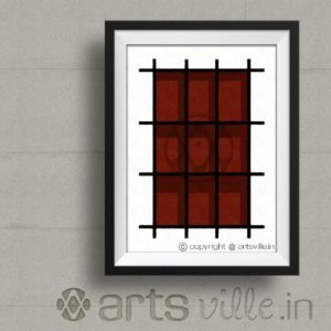 artsville-online-painting-in-india-shadows-in-grid-P000011PA432