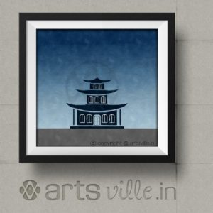 artsville-modern-art-india-house-against-blue-sky-framed-print-P000015P1215