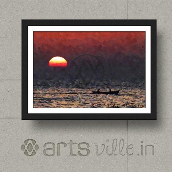 artsville-painting-fishermen-at-sunset-framed-art-p000022pa432