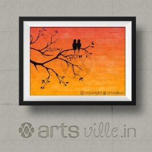 Online-Paintings-in-india-artsville-birds-at-sunset-P000027P