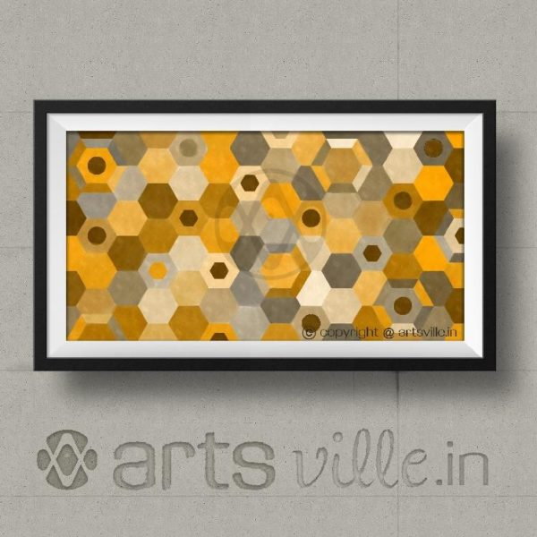Online-paintings-in-india-artsville-Hexagonal-Connection-P000026PA432