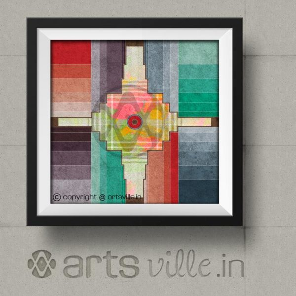 Online-contemporary-painting-Colours-&-Courtyard-art-P037PS