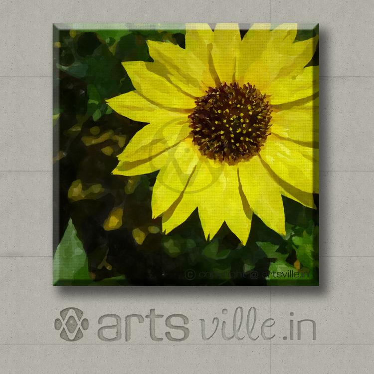Yellow flower painting on canvas coreopsis p035cs artsville online paintings india artsville yellow flower coreopsis p032cs mightylinksfo