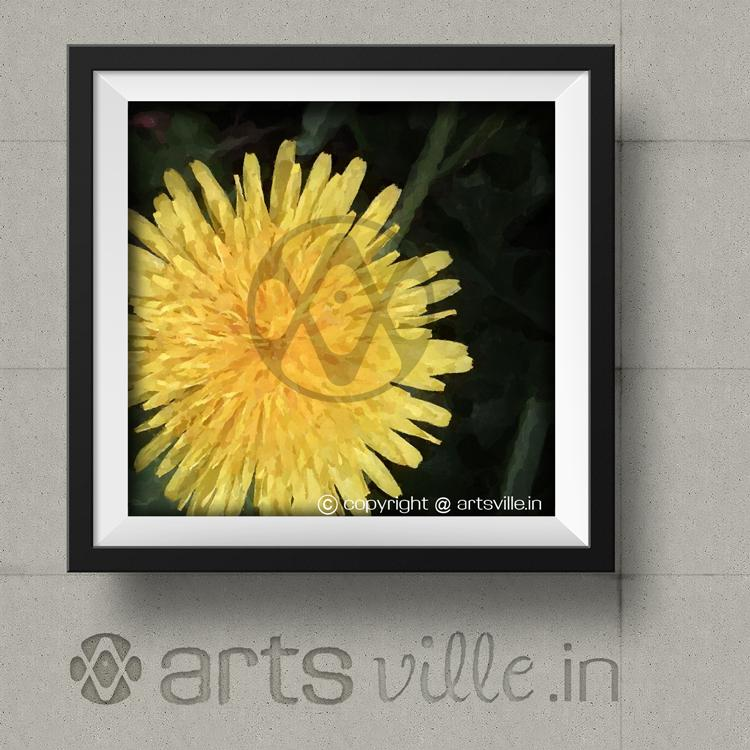 Yellow flower painting framed art p033ps artsville online art online paintings india artsville yellow flower painting art mightylinksfo