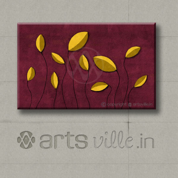 Yellow-sprouts-P041CL-artsville.in-abstract-art-online